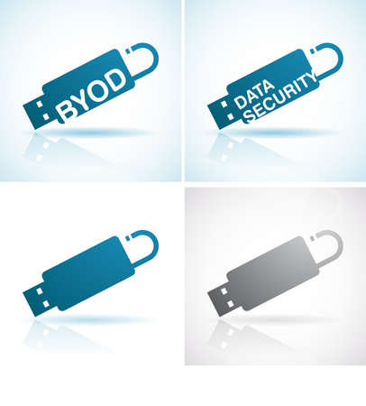 BYOD - bring your own devices Stock Vector - 19070906