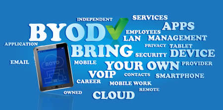 BYOD - bring your own devices Vector