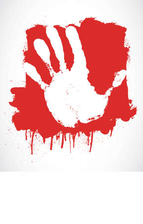 stop hand: red hand Illustration