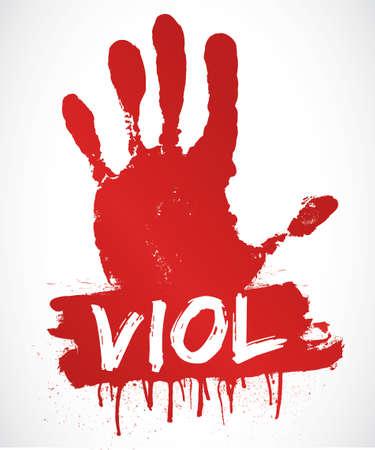 violencia familiar: dejar de violaci�n Vectores