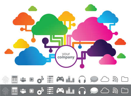 Your company and cloud Stock Vector - 21250783