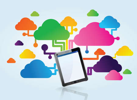 cloud and tactil tablet Stock Vector - 21250784