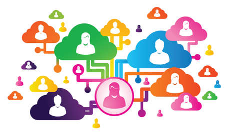cloud and social media Stock Photo - 21250787