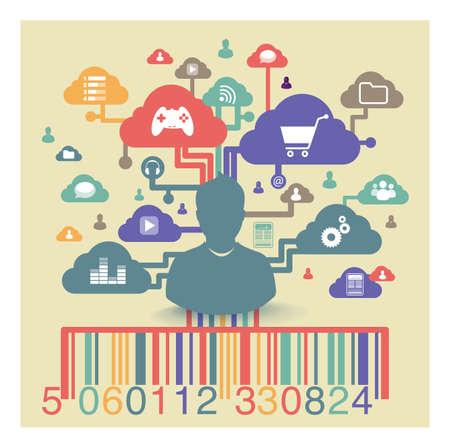 ligne: achat virtuel en ligne