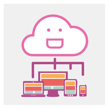 Cloud computing concept Stock Vector - 24985553