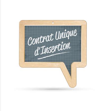 an insertion: CUI, contrat unique d insertion