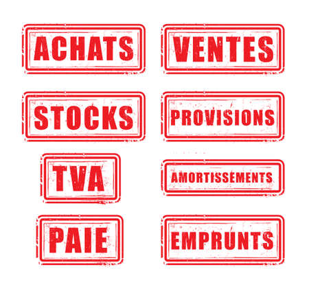 vat: buffers Purchases, sales, inventory, supplies, VAT