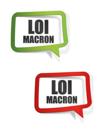 macron law in France Illustration
