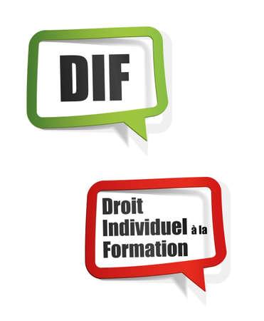 DIF - droit individuel à la formation Banque d'images - 33047057
