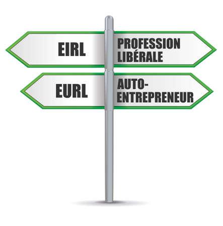 eirl, eurl, entrepreneur Illustration