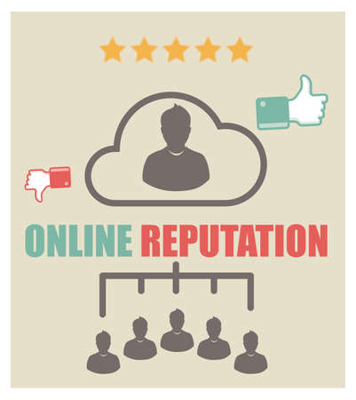 reputation: online reputation Illustration