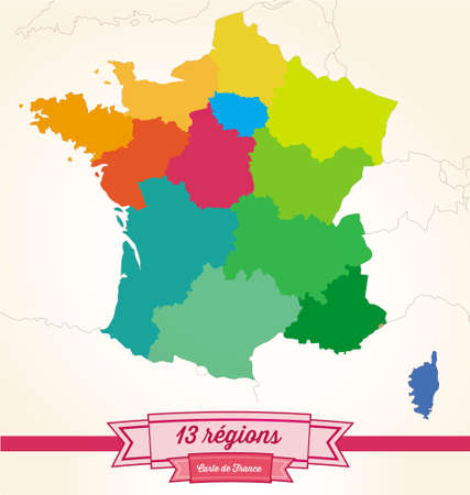regions: regions from France Illustration