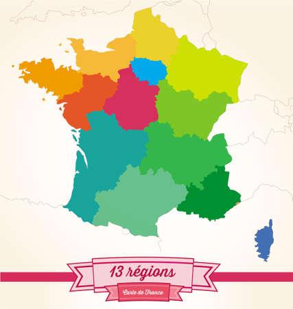 corsica: regions from France Illustration