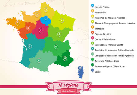 french: regions from France Illustration