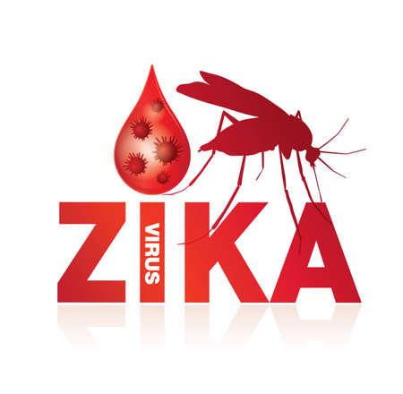 virus: zika virus Illustration