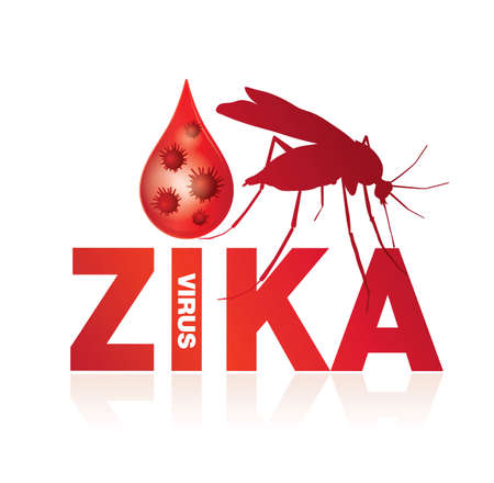 contagion: zika virus Illustration