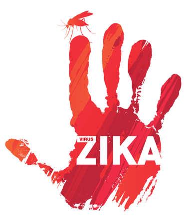 zika virus Illustration