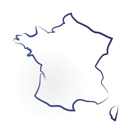Francja mapie