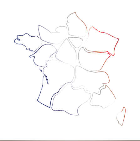 brittany: Result � card and regions of France