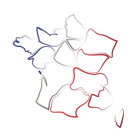 Result ? card and regions of France Illustration