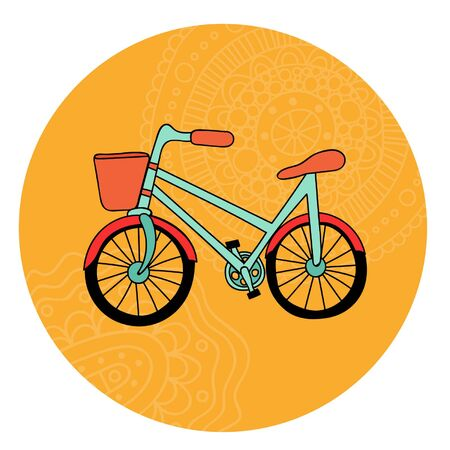 pedals: Retro bicycle Illustration
