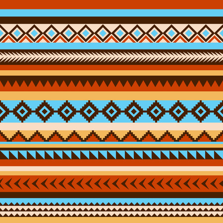 Seamless ethnic indian pattern. Good for design of fabric, wrapping and other objects. Aztec motives.