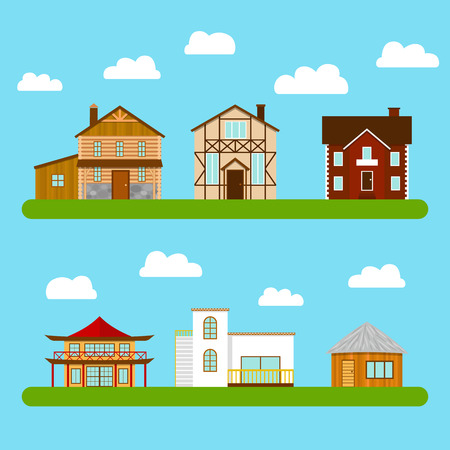 Pleasing 3 450 Different Houses Stock Vector Illustration And Royalty Free Largest Home Design Picture Inspirations Pitcheantrous