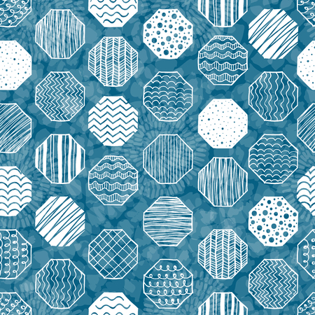 textiles: Seamless pattern with geometric figures. Hand drwn background. Good for textile and wrapping design. Vector illustration. Illustration