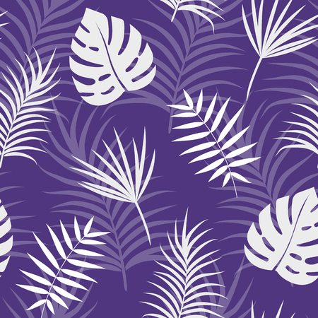 Seamless tropical violet pattern