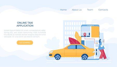 Car sharing concept. Mobile application. Vector illustration.
