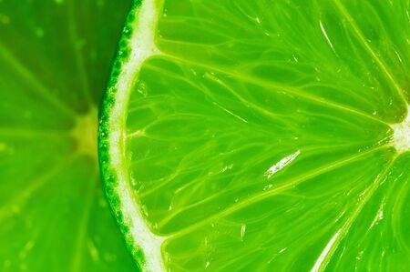 close up: close-up of a slice of lime Stock Photo