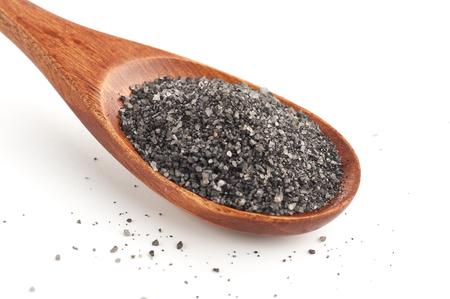 Kala namak. Black indian salt Stock Photo