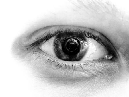 The human eye Photographer focus lens focusing pupil