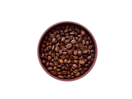 joyfulness: Coffee beans in a pot drink caffeine arabica