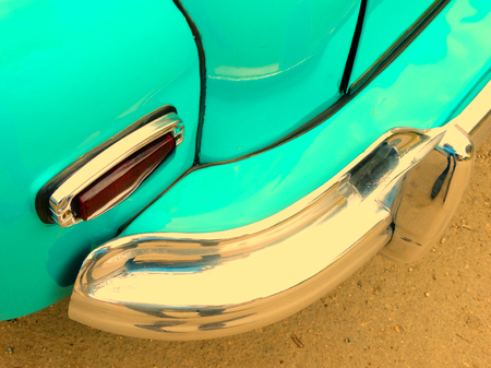 60's: Old retro car on exhibition 40s 50s 60s vintage style time generation rarity