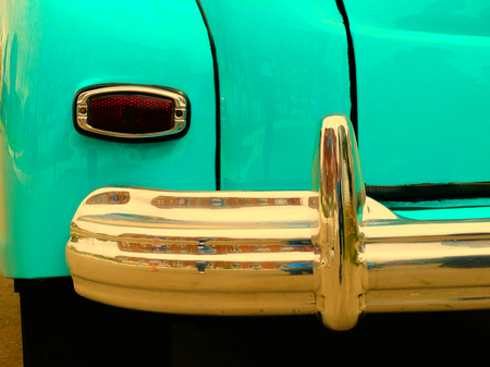60s: Old retro car on exhibition 40s 50s 60s vintage style time generation rarity