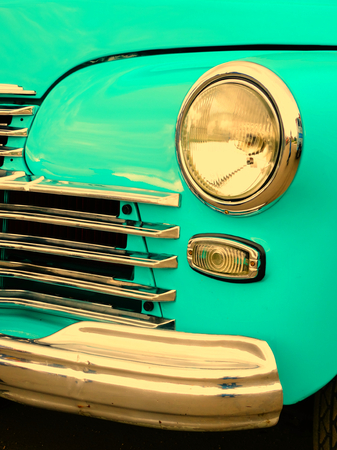 fourties: Old retro car on exhibition 40s 50s 60s vintage style time generation rarity