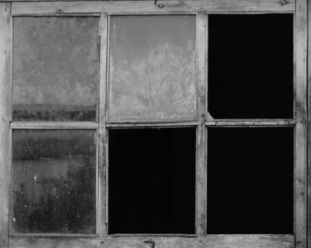 darkness: The old window in a building retro black white glass room darkness frame