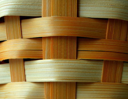 wood textures: Wicker basket for things backgrounds textures wood Stock Photo