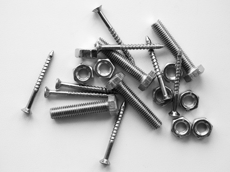 metal monochrome: Tools for mounting repairs set screw thread material metal monochrome
