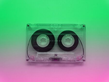 Audio cassettes for recorder 80s 90s 70s retro vintage old music time generation music tape wallpaper background style nostalgia song