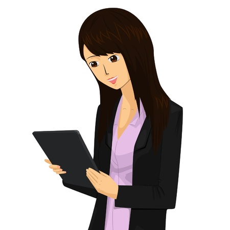 facilitate: The business women really need tablets to facilitate Her job