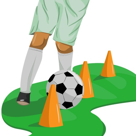 professionalism: if you want to be a famous footballer you have to train hard to reach your dreams
