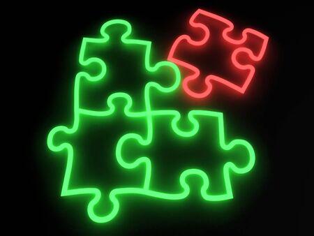 Puzzle Neon Stock Photo - 1859212