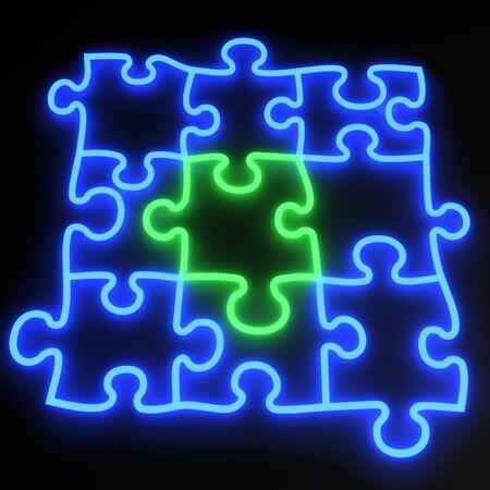 Puzzle neon photo