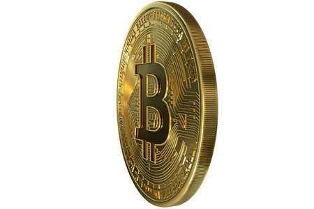 Bitcoin coin gold crypto currency Archivio Fotografico