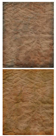 paper textures: 2 wrinkly and rumpled grunge paper textures.