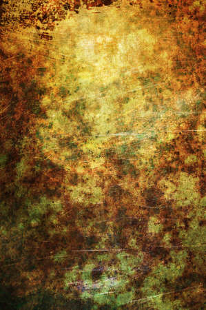 gold textures: An abstract textured background with green gold and rust. Stock Photo