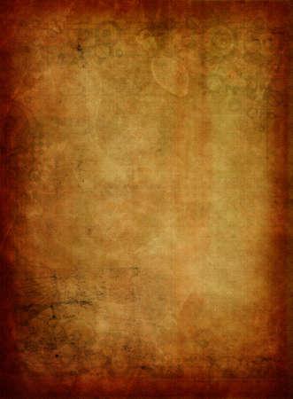 Un oscuro del grunge textura del papel o de fondo. Hay sutiles imágenes de color verde oscuro en el perímetro. Foto de archivo - 11981116