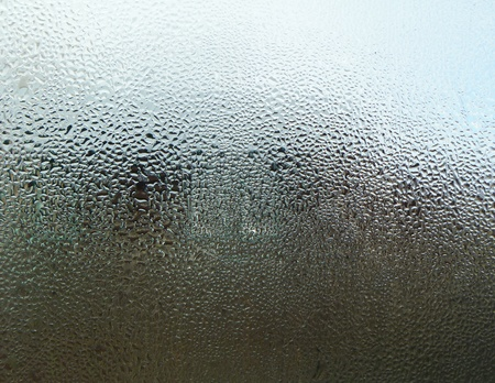 dripped: Fogged up glass Stock Photo